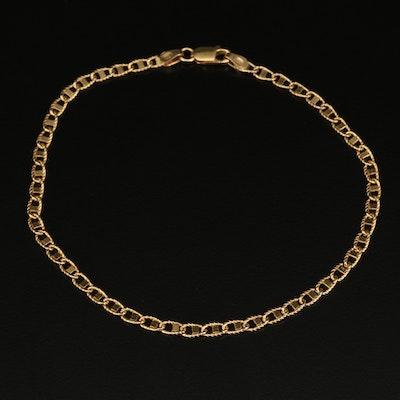 Italian 14K Mariner Link Chain Bracelet