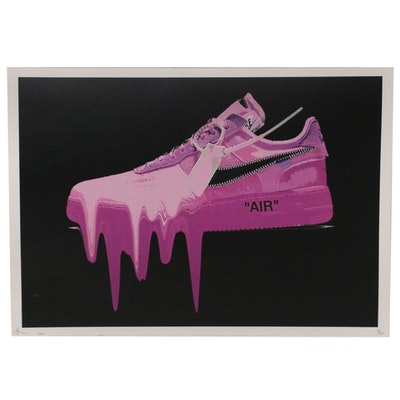 Death NYC Pop Art Offset Lithograph of Nike Air Jordan Shoe