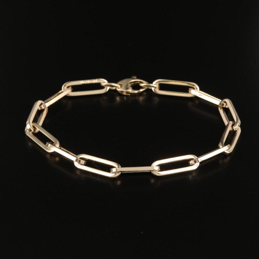 Italian 14K Paper Clip Link Bracelet