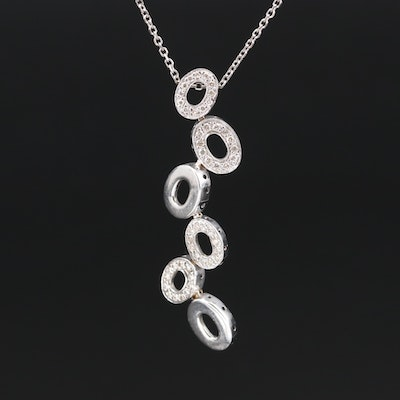 18K and 14K Diamond Necklace