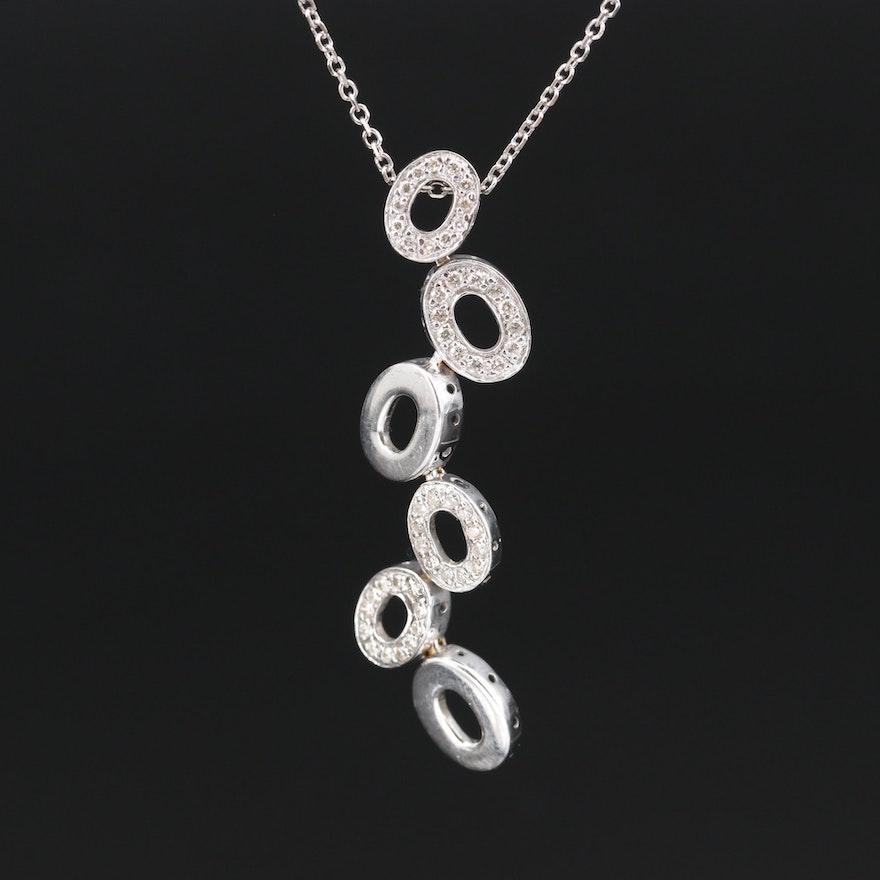 18K and 14K Diamond Necklace