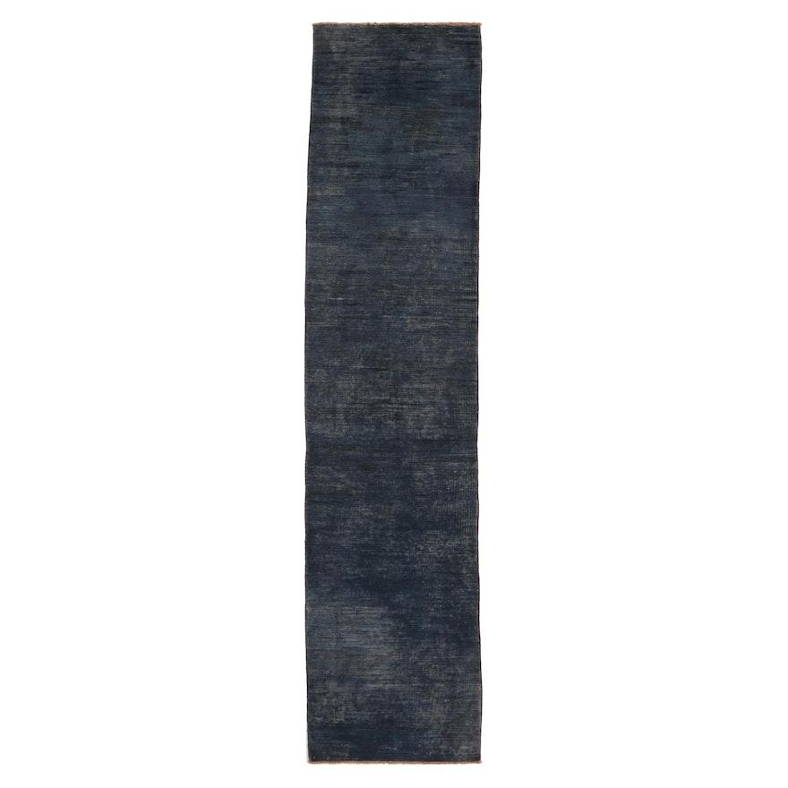 2'4 x 9'11 Hand-Knotted Indian Gabbeh Wool Carpet Runner