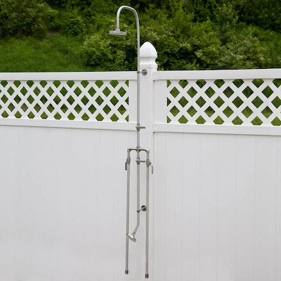Deluxe Stainless Steel Outdoor Shower Mixer with Foot Shower