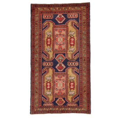 3'8 x 6'7 Hand-Knotted Caucasian Kazak Wool Area Rug