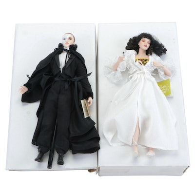 "Franklin Heirloom ""The Phantom of the Opera"" Porcelain Collector Dolls"