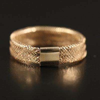 14K Mesh Ring