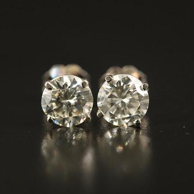 14K 1.95 CTW Diamond Solitaire Stud Earrings