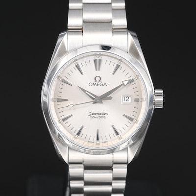 "Omega ""Seamaster Aqua Terra"" Stainless Steel Quartz Wristwatch"