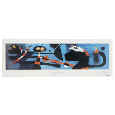 "Offset Lithograph after Joan Miró ""Mural I"""