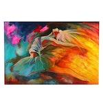Farshad Lanjani Acrylic Painting of Leaping Ballerina, 21st Century