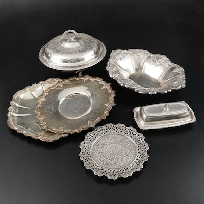 "Wallace ""St. Regis"" and Other Silver Plate Tableware, Mid to Late 20th Century"