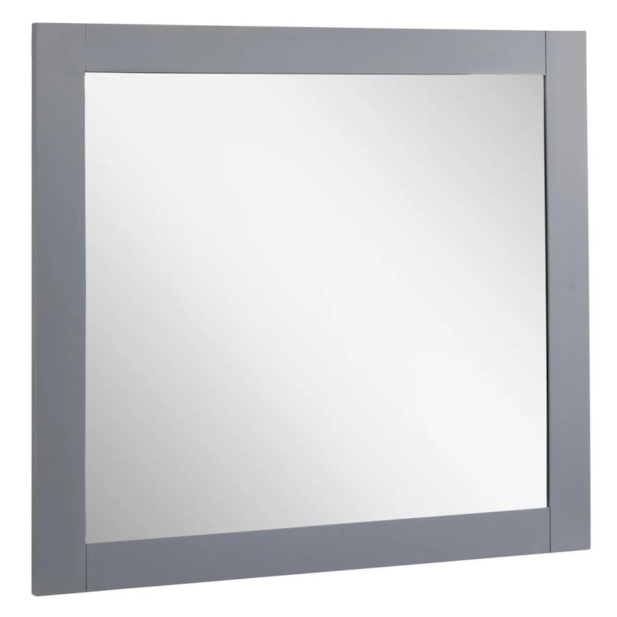 """Quen"" Rectangular Framed Wall Mount Vanity Mirror in Gray"