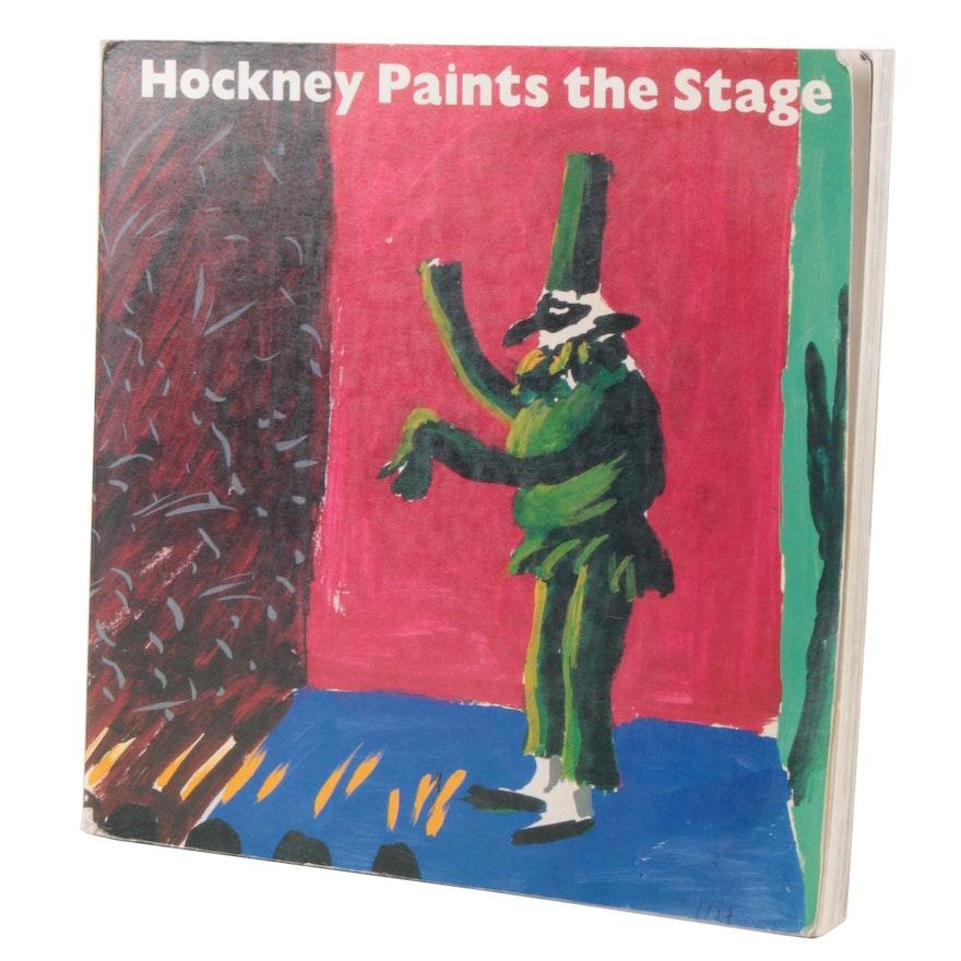 "David Hockney Signed ""Hockney Paints the Stage"" by Martin Friedman, 1983"