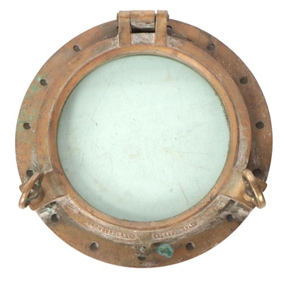 Brass Armourplate Glass Nautical Porthole Window