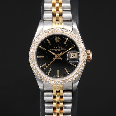 1985 Rolex Datejust Wristwatch with Diamond Bezel