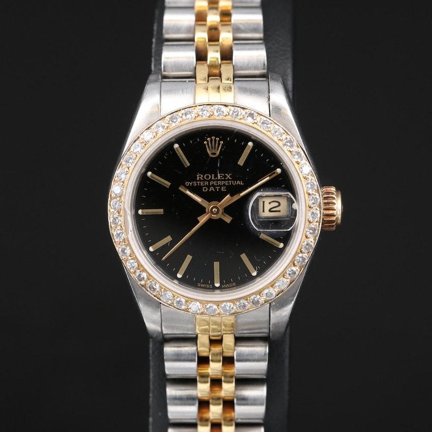 1985 Rolex Datejust Wristwatch with Diamond Bezel