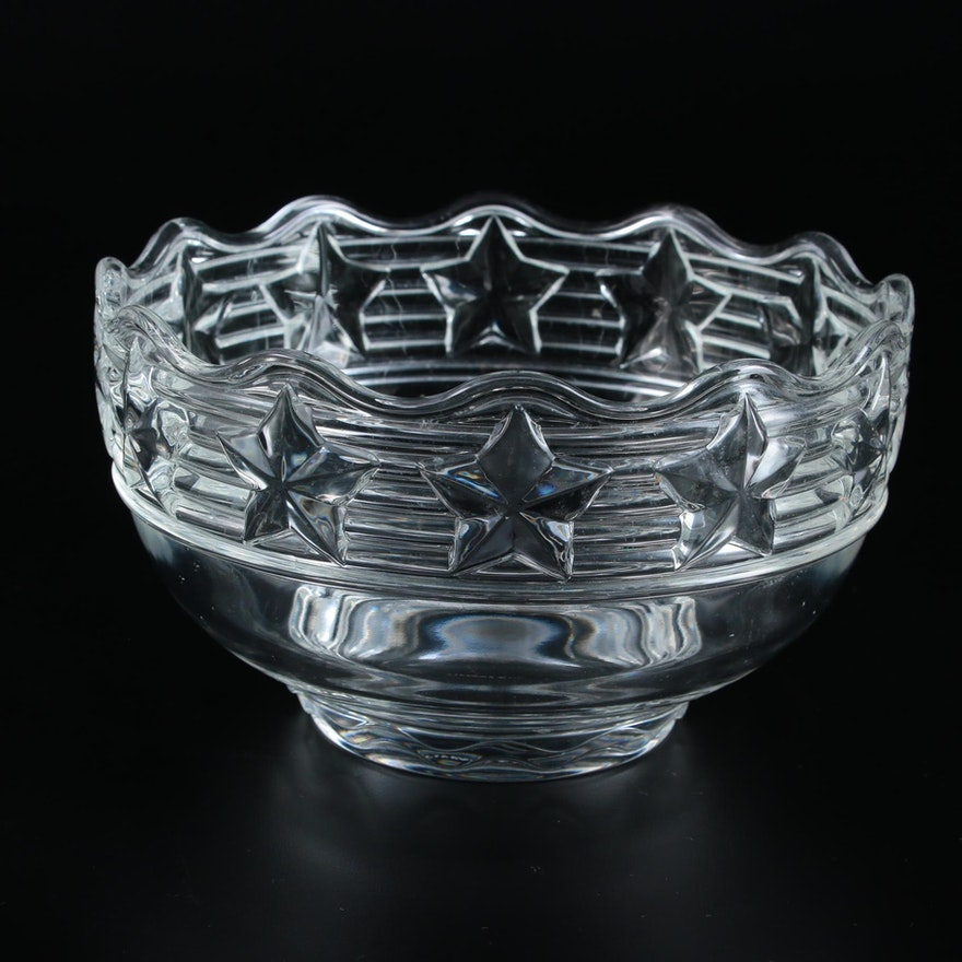"Tiffany & Co. ""Stars"" Crystal Bowl"