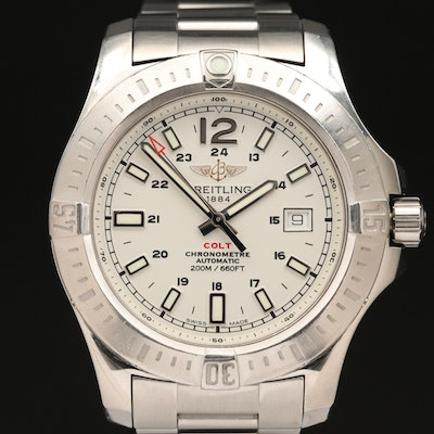 "Breitling ""Colt"" Stainless Steel Automatic Wristwatch"