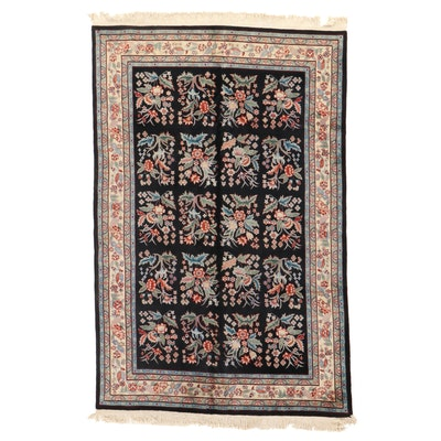 5'9 x 9'4 Hand-Knotted Persian Kashan Area Rug