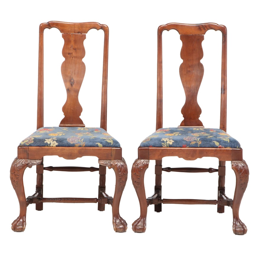 Pair of Chippendale Style Mahogany Side Chairs, Early 20th Century