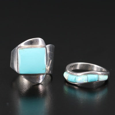 Southwestern Sterling Rings Including Cloud Shop and Opal