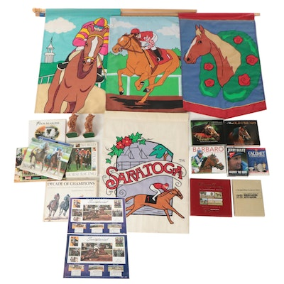 American Thoroughbred Signed Books and Calendars with Other Racing Memorabilia