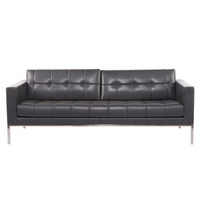de Sede Swiss Button Tufted Leather Sofa