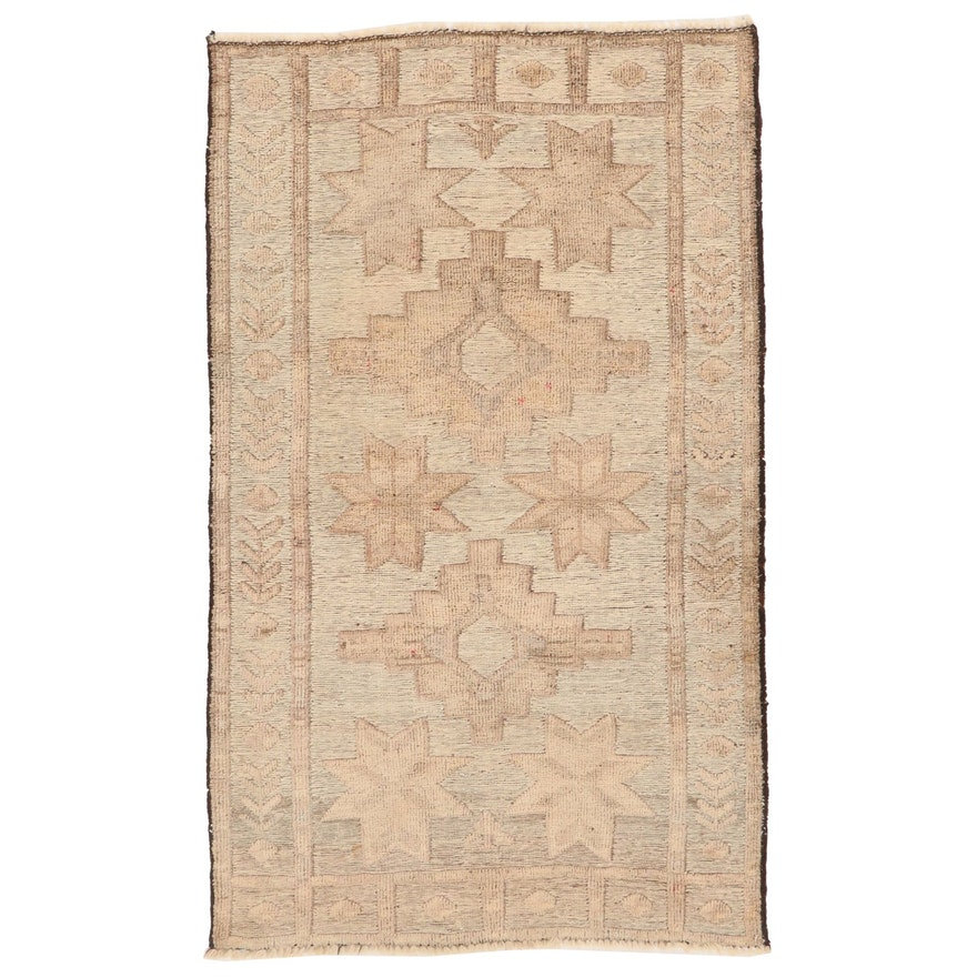 2'7 x 4'3 Hand-Knotted Afghan Baluch Wool Accent Rug