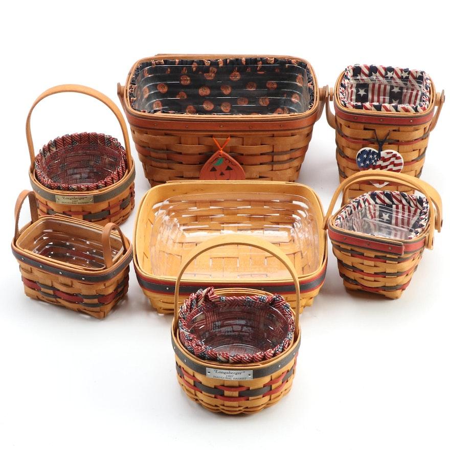 Longaberger Handwoven Baskets, Late 20th Century