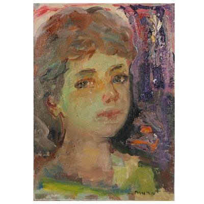 "Murat Kaboulov Oil Painting ""#786,"" 2002"