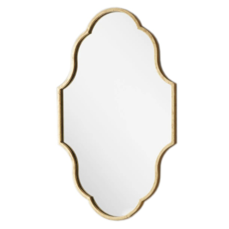 """""""Lucido"""" Iron Gold Leaf Wall Mount Vanity Mirror"""