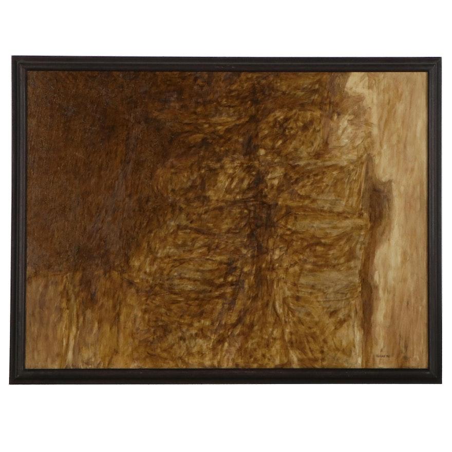 Frank Hursch Abstract Oil Painting, 1970