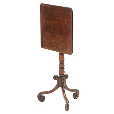 Late George III Mahogany Tilt-Top Candlestand, Early 19th Century