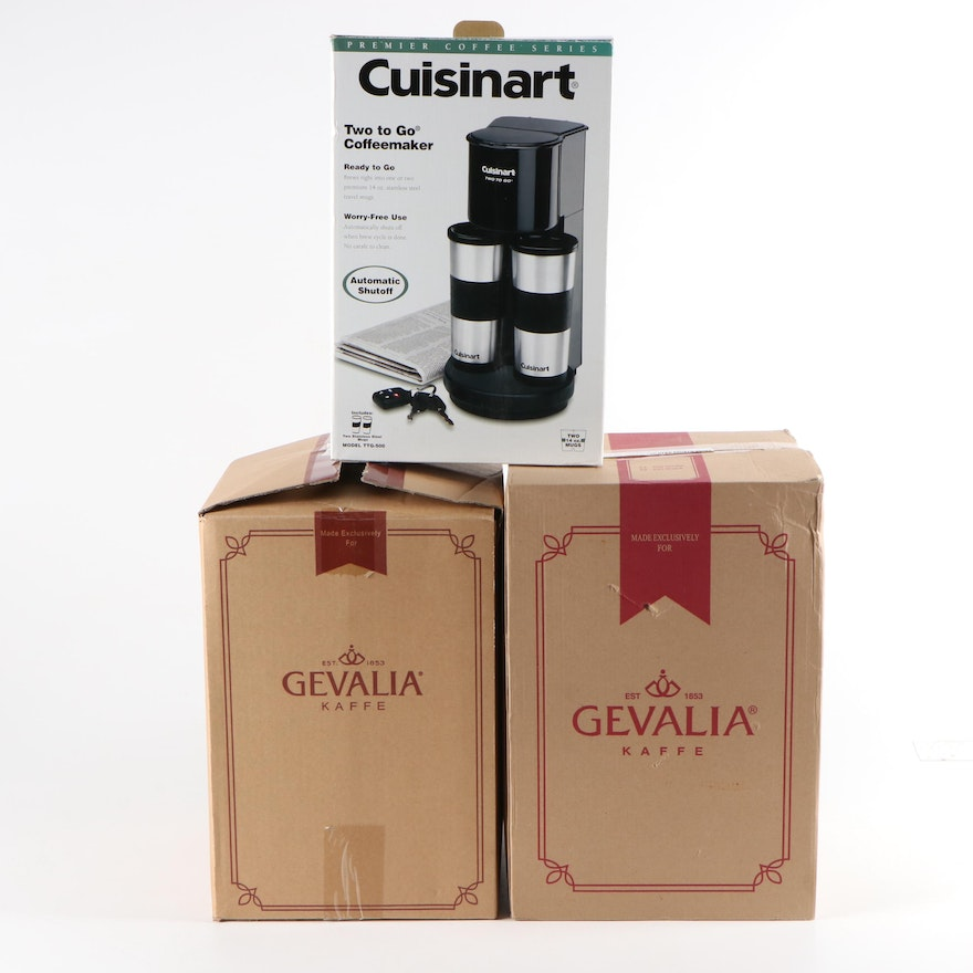"""Cuisinart """"Two to Go"""" Coffee Maker and Gevalia Programmable Coffee Makers"""
