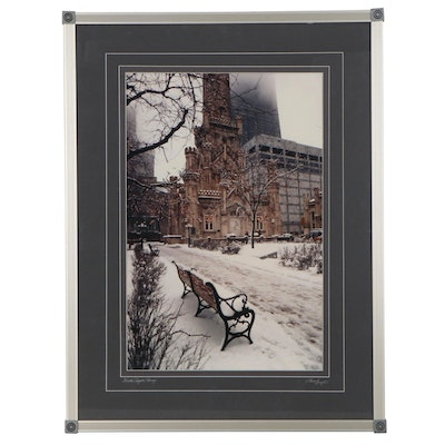 "Laurel Spingola Digital Photograph ""Winter Respite/Chicago,"" 21st Century"