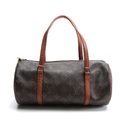 Louis Vuitton Papillon 30 Bag in Monogram Canvas with Leather Trim