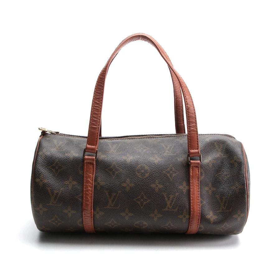 Louis Vuitton Papillon 30 Bag in Monogram Canvas with Leather Trim