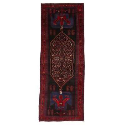 4'6 x 12'4 Hand-Knotted Northwest Persian Kakaberu Long Rug