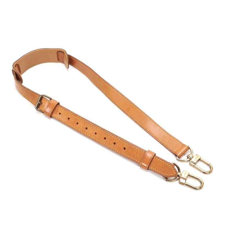 Louis Vuitton Keepall Bandouliere Vachetta Leather Strap
