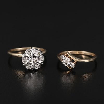 10K Diamond Illusion Set Rings