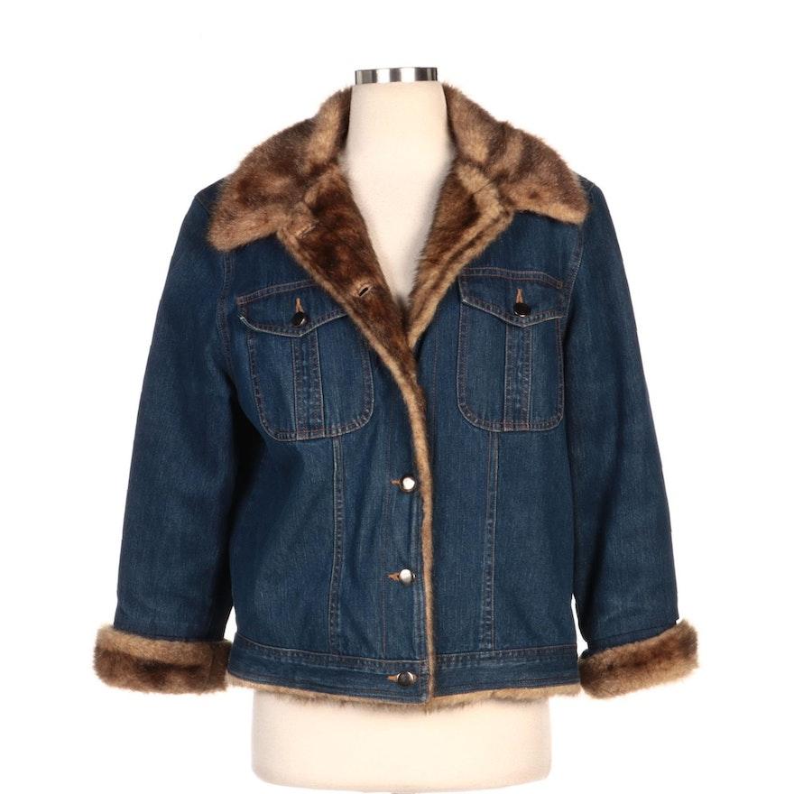 Vantana Faux Fur Lined Denim Jacket