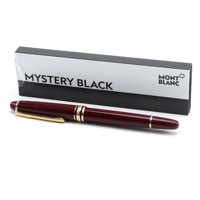 Montblanc Meisterstück Red Classique Ballpoint Pen with Gold Plate Trim