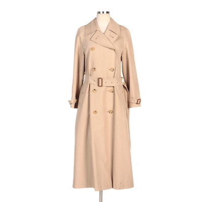 "Burberry Double-Breasted Trench Coat with ""Nova Check"" Lining"