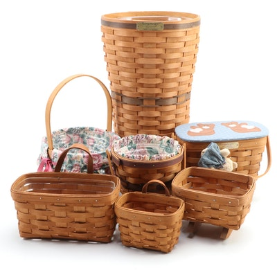 "Longaberger ""Dresden"" Basket, J. W. Collection Umbrella Stand, and More"
