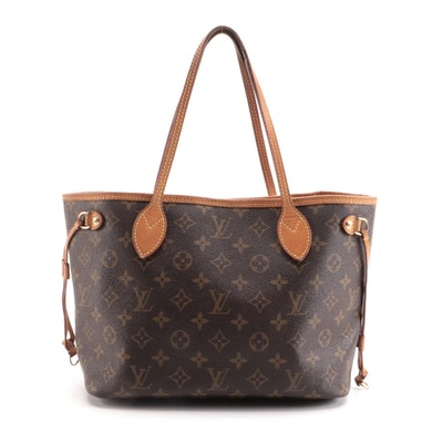 Louis Vuitton Neverfull PM Tote in Monogram Canvas and Vachetta Leather Trim