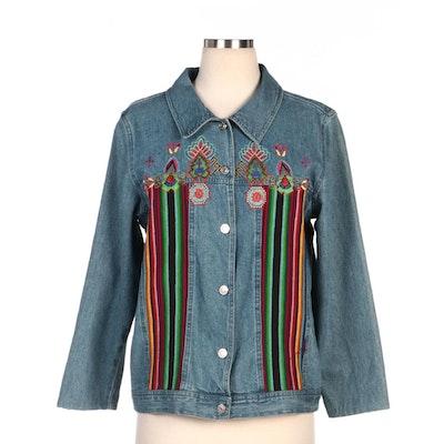 Bedford Fair Embroidered Denim Jacket
