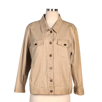 Vicki Wayne's Khaki Denim Jacket