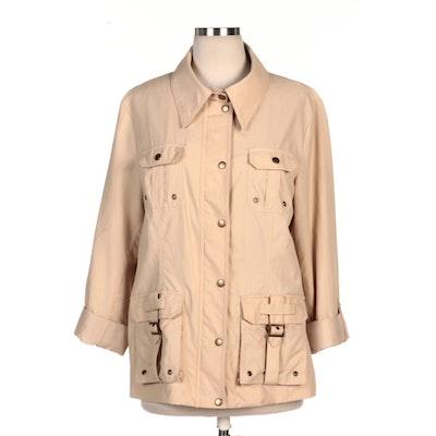 Montanaco Beige Buckle Pocket Jacket