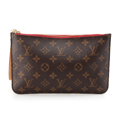 Louis Vuitton Neverfull Pochette Zippered Case in Monogram Canvas