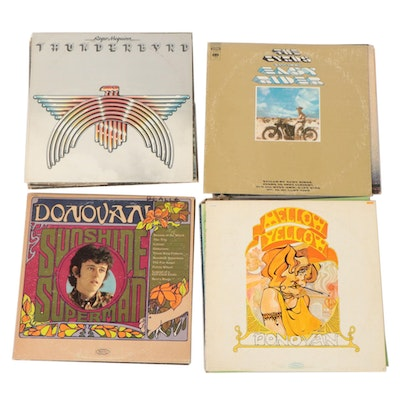 Vinyl Record Albums Featuring Donovan and The Byrds